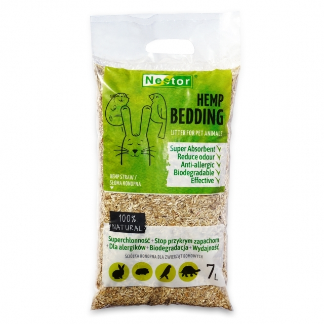 HEMP BEDDING - LITTER FOR PET ANIMALS