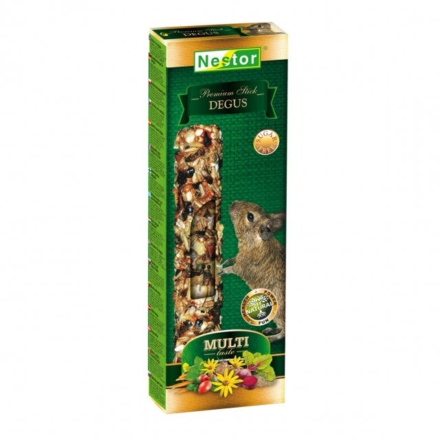 Multi-taste Premium stick for degus
