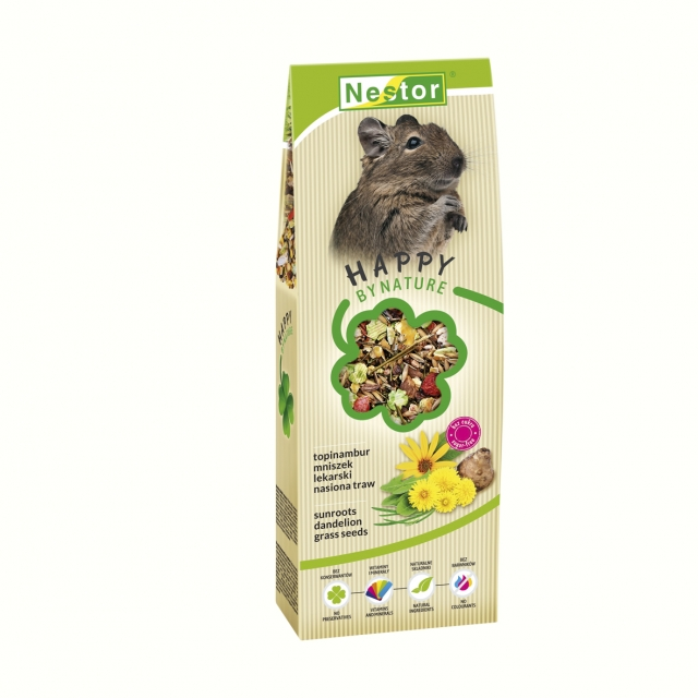 Premium food for degus with sunroots, dandelion and  grass seeds