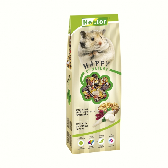 Premium Food for hamsters with amaranth, corn flakes and parsley