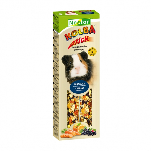 premium stick for guinea pigs with black currants and oranges