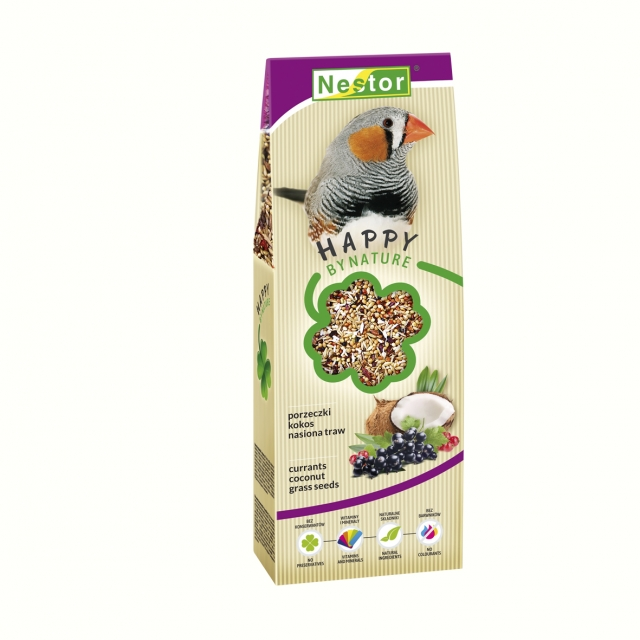 Premium Food for finches with currants, coconut and grass seeds