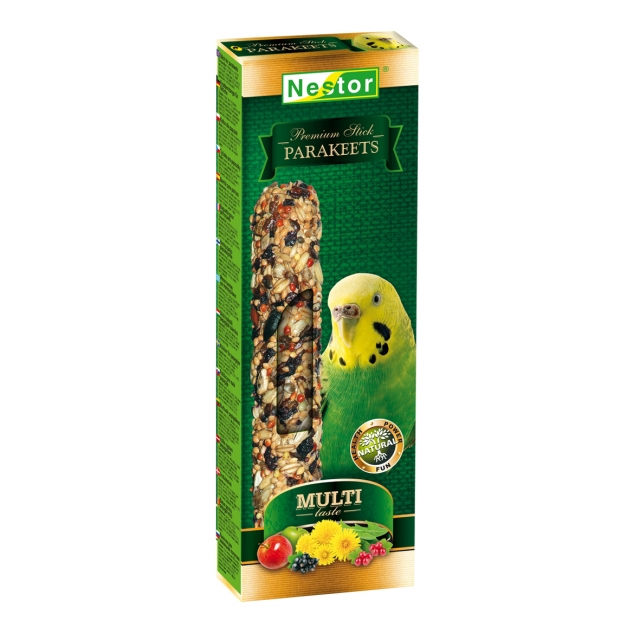 Multi-taste Premium stick for parakeets