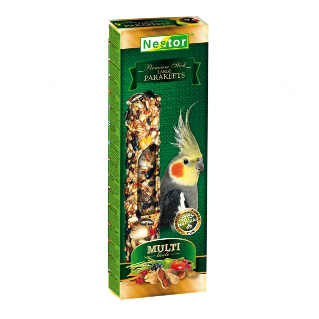 Multi-taste Premium sticks for large parakeets