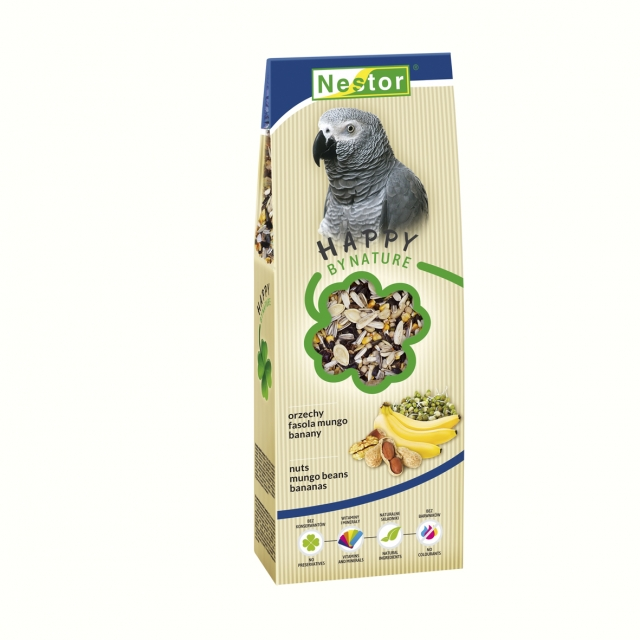 Premium Food for big parrots with nuts, mungo beans and bananas